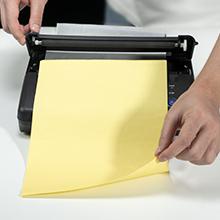 Install transfer paper