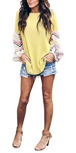 Long Sleeve Tunic Tops