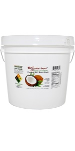 1 gallon Extra Virgin Organic Coconut Oil in resealable microwavable pail