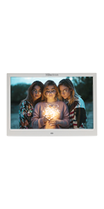 12 inch digital photo frame, white photo frame, dpf , DPF, Xelectron, gift, IPS screen
