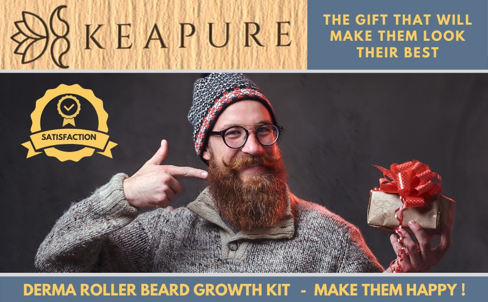 Derma Roller Beard Growth Kit makes the perfect gift