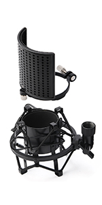Moukey Microphone Shock Mount with Metal Pop Filter
