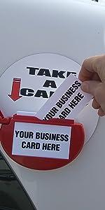Marketing Holder Card Caddie Magnetic Vehicle Business Card Holder