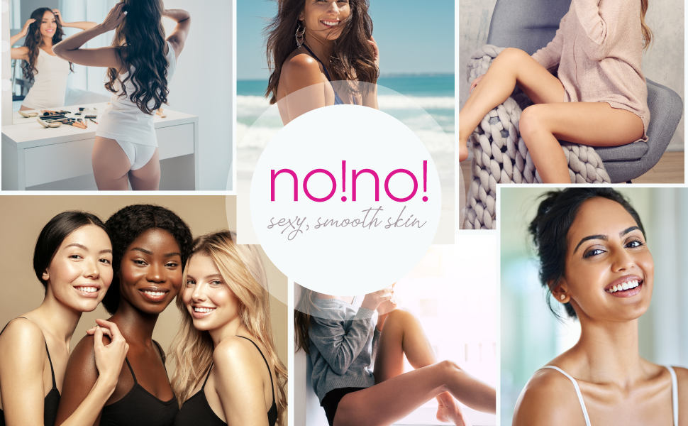 no!no! hair removal system blonde, brown, gray, red hair removal safe for tan, fair, dark skin