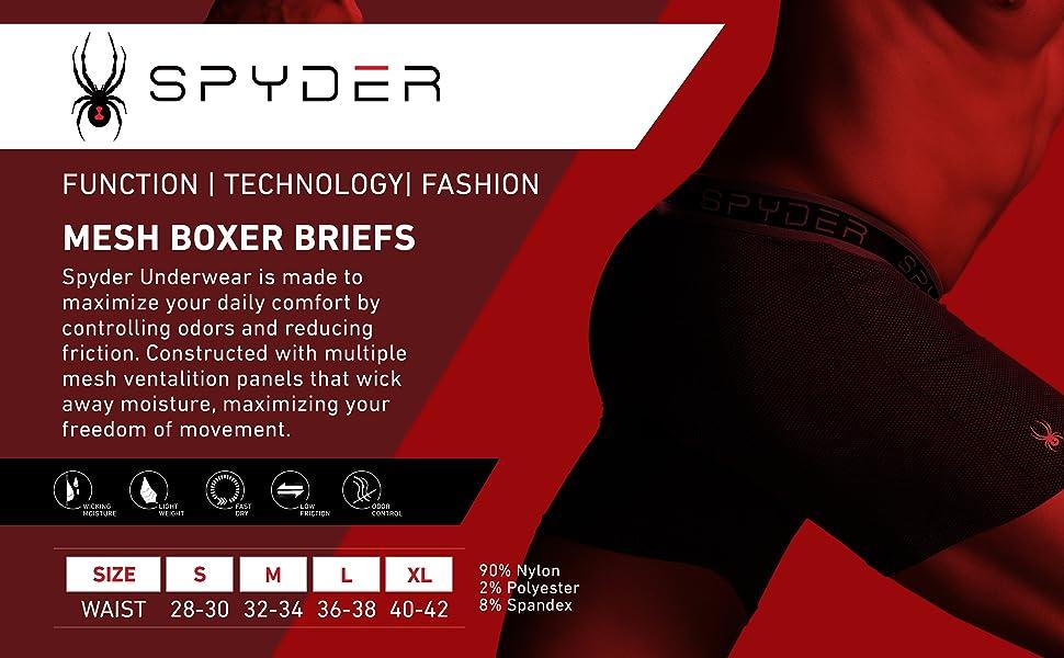 Spyder Mesh Ultra Comfortable Boxer Briefs