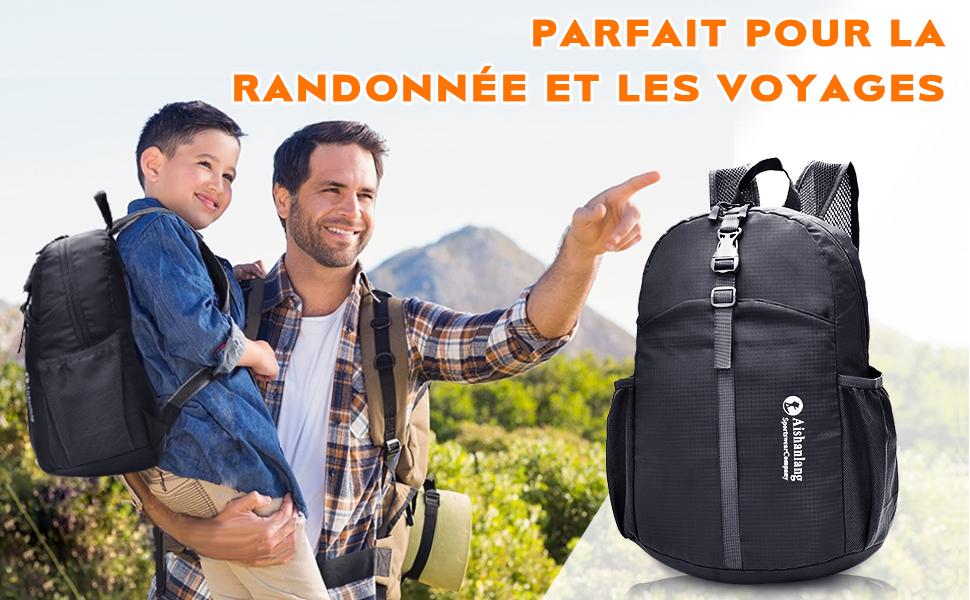 YARD Sac /à Dos de randonn/ée imperm/éable Ultra l/éger 20L pour Le Voyage//la randonn/ée//Le Camping///à lext/érieur