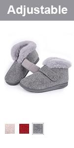 longbay women adjustable slipper boot