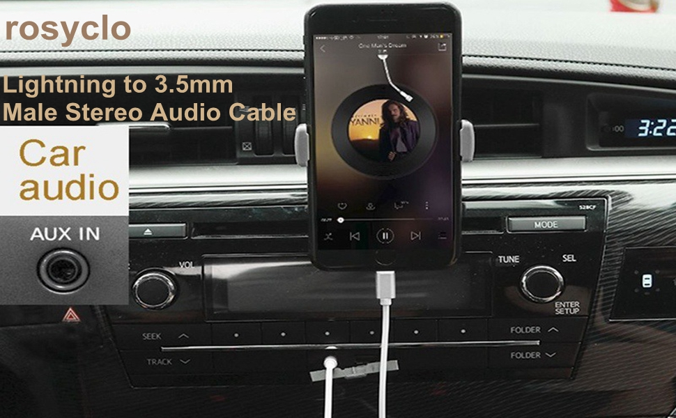 Apple MFi Certified Lightning to 3.5mm Male Stereo Audio Cable