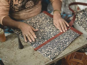 workshop made in india worker leather jute