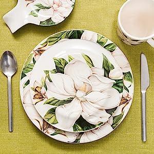 bico magnolia floral dinnerware