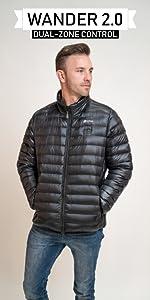 venture heat heated wander jacket mens