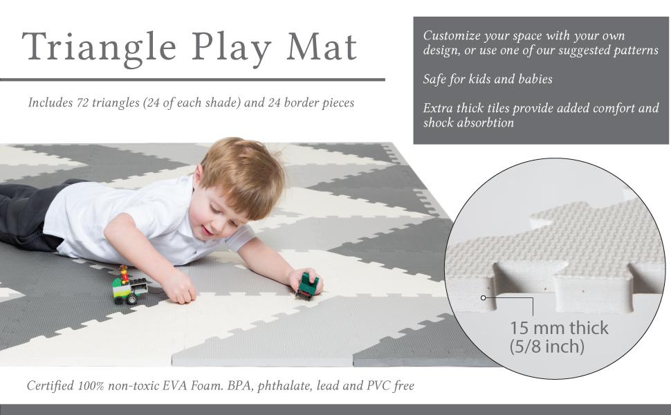 6-Piece Rainbow Baby Toddler Kids Play Mat Floor Tiles Non-Toxic BPA /& Lead Free