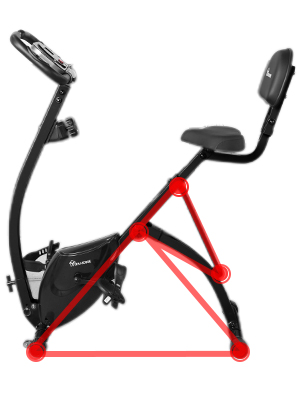 foldable spin bike