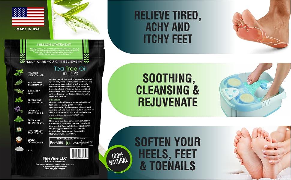 daily remedy tea tree foot soak for antifungal nail