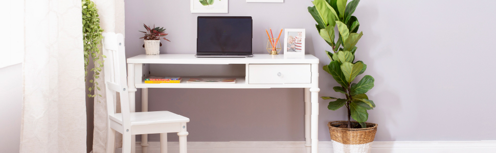 kids desk and chair, white desk, writing desk, wooden kids desk, guidecraft desks