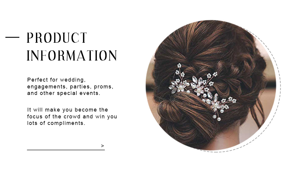Wedding hair piece flower is ideal for women and bridesmaid