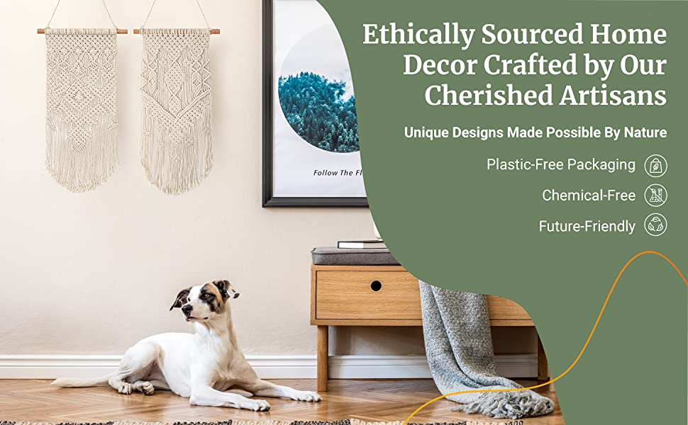 Ethically Sourced Home Decor Crafted By Our Cherished Artisans. Plastic-Free Packaging.Chemical-Free