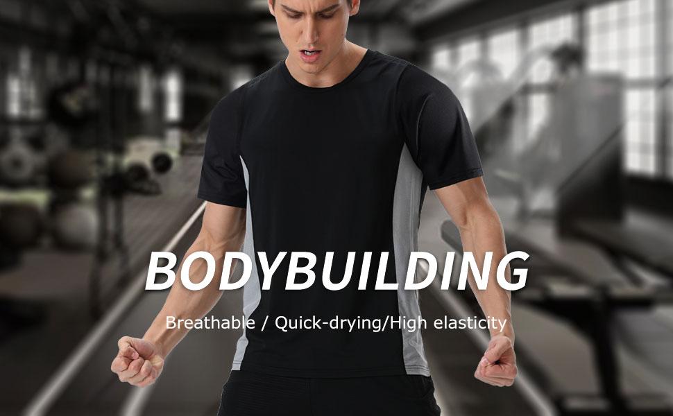 Men's Sports T-Shirt,Short Sleeve Gym top