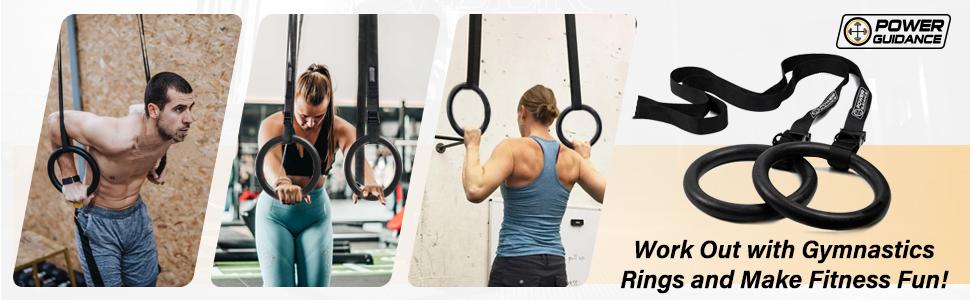 Cross Fitness Gym anneaux bois turnringe avec corde 24 CM diamètre extérieur