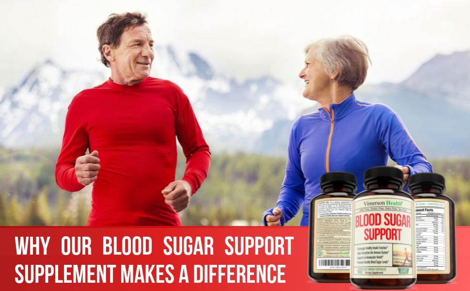 Vimerson Health Blood Sugar Support Gymnema Woman Man Jogging
