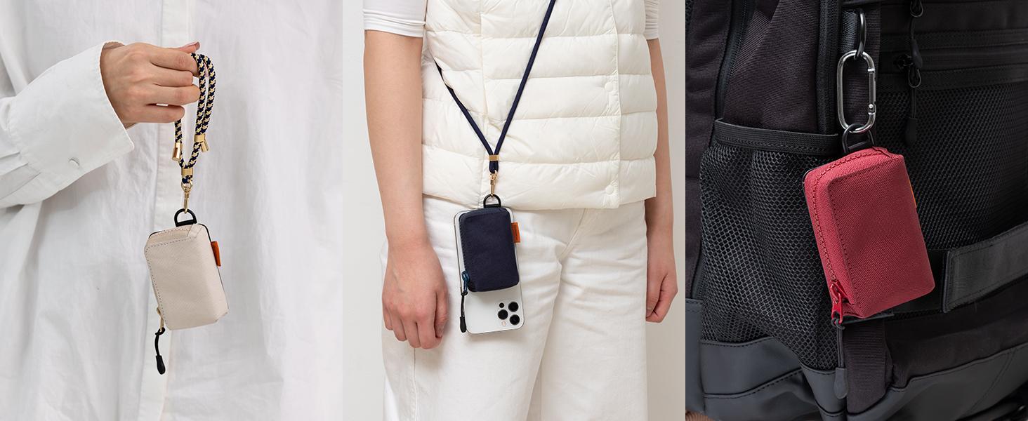 phone wallet mini zipper pouch organizer pouch card holder purse pocket money bag stoarge case