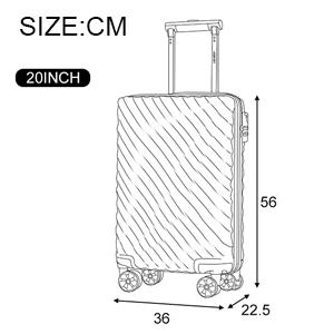 GYZ Trolley Universal Wheel Suitcase Suitcase Men and Women Trailer Box Four Sizes Optional Color : A, Size : 3825.555 cm