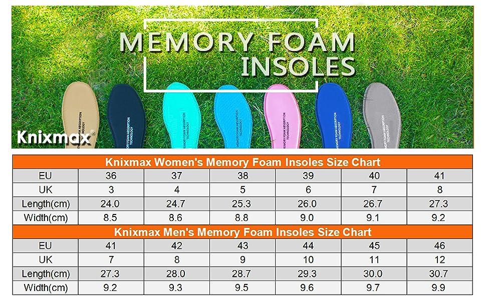 memory foam insoles for women