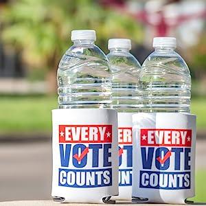Water Bottles in Standard Koozies