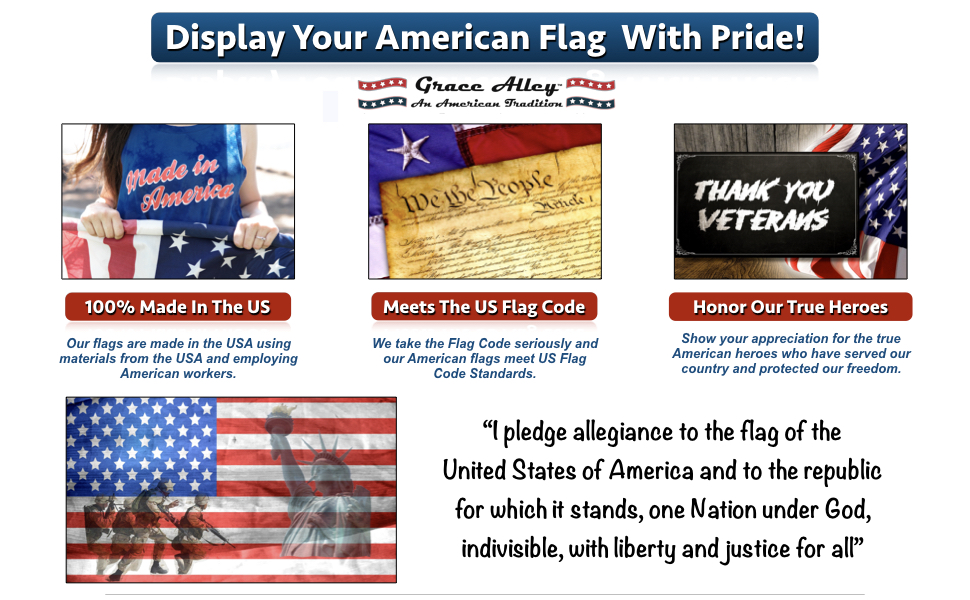american flag with pride