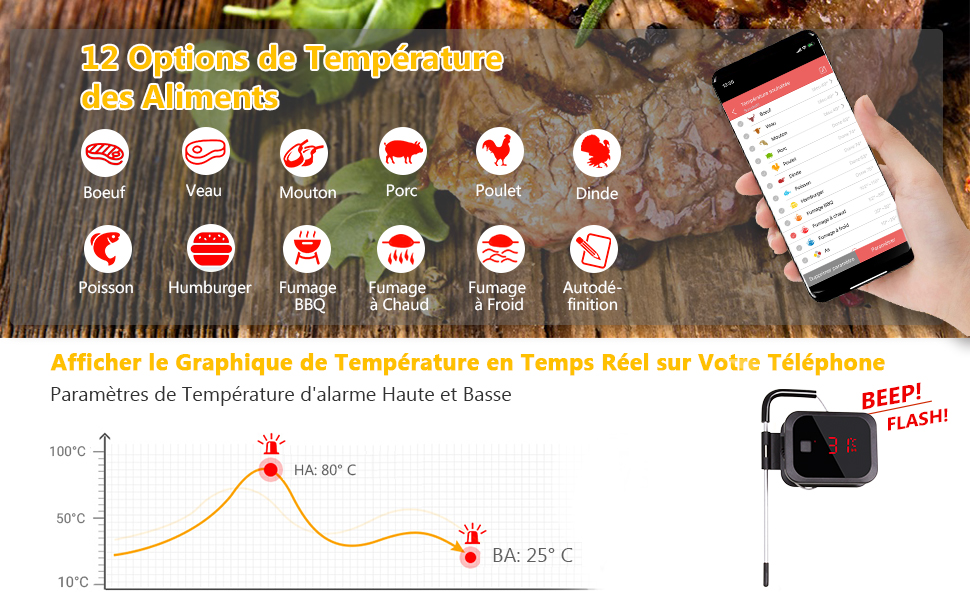 Inkbird IBT-2X Thermometre Bluetooth