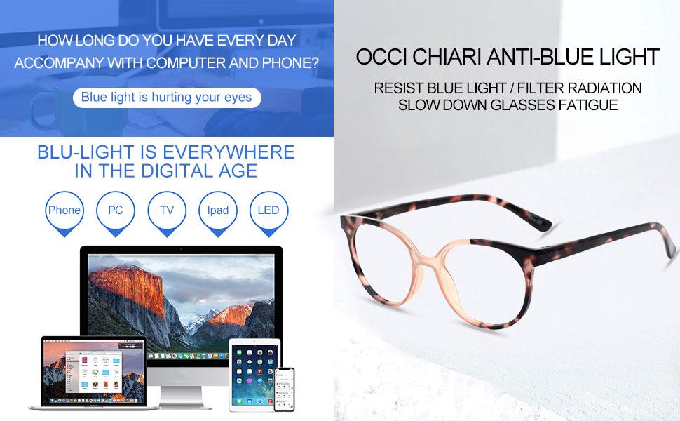 OCCI CHIARI STYLISH ANTI-BLUE LIGHT READING GLASSES