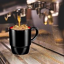 Porcelain Mugs - 16 Ounce for Coffee, Tea, Cocoa, Set of 6 tea cups mugs coffee mugs