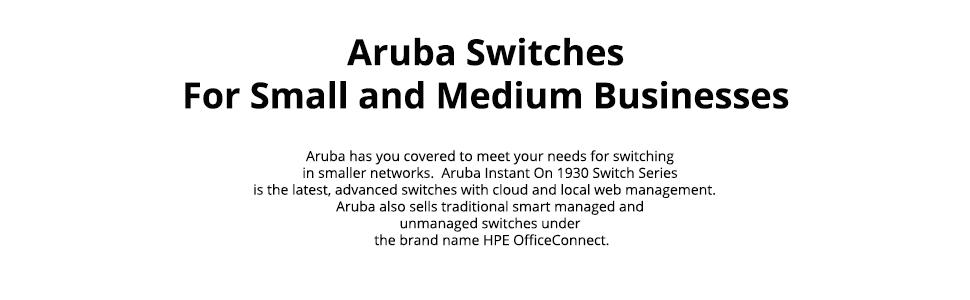 Aruba Portfolio of Switches