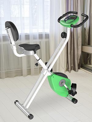 Bicicleta Estática para Ejercicios Profesional Bicicleta Vertical Plegable de Forma X