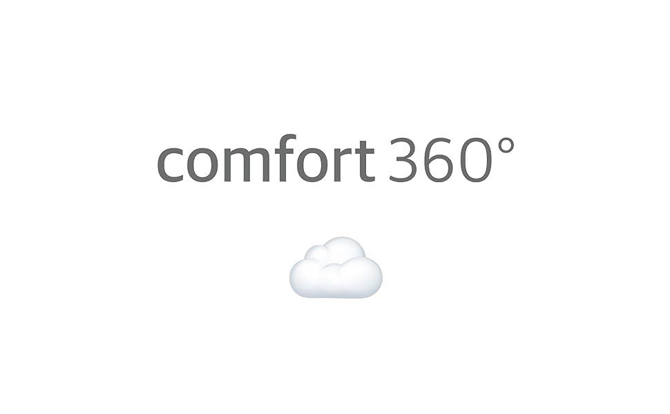 Comfort 360° - Men's Premium Sweatshirt Full Zip Up Hoodie Fleece with Zipper Pockets - Black & Grey