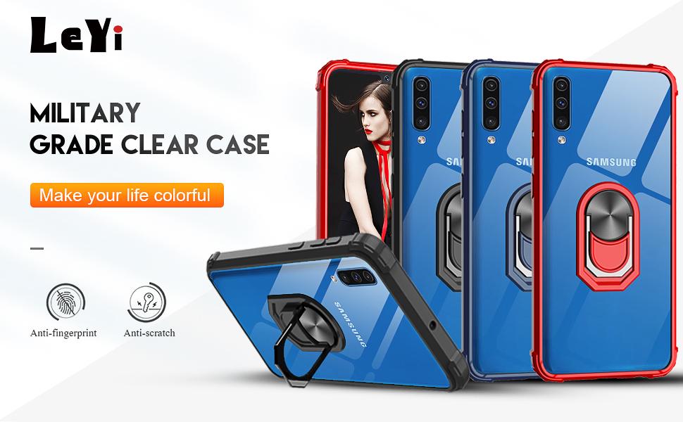 LeYi Funda Samsung Galaxy A50 con [2-Unidades] Cristal Vidrio Templado