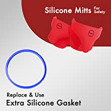 silicone mitts extra gasket easy multi cooking multipot mealthy instant pot electric cooker safety