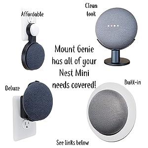 Mount Genie's line of Nest Mini products