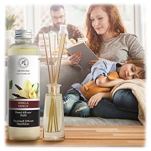 Recharge pour Diffuseur de Vanille 200ml - Naturelle Huile Essentielle de Vanille - Parfum Frais et