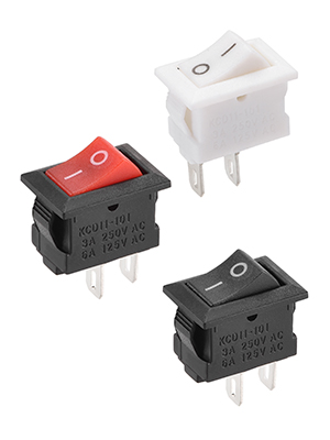 10Pcs 16mm White Round Boat Rocker Switches Mini 2Pin ON-OFF Switches 3A//250s4