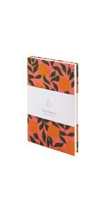 orange cute designer notebook journal for women flower cool lined notes planner small flower pink