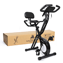 EVOLAND Bicicleta Estática Plegable, Bicicleta de Entrenamiento de Fitness 10 Niveles Resistencia Ajustable con Monitor Rítmo Cardíaco y 2 Bandas Elásticas para Ejercicio Entrenamiento en Casa: Amazon.es: Deportes y aire libre