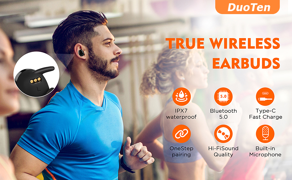 DuoTen waterproof wireless earbuds