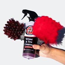 Scrub wheel brush chenille microfiber towel cloth applicator face michellin blizzak winter prep auto