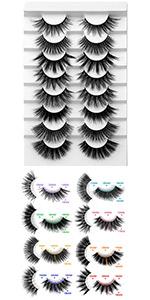 natural false lashes bulk lashes fluffy mink lashes cosplay lashes strip lashes