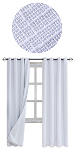white Linen Blackout Curtains 100%