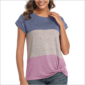 color block long sleeve tops for women