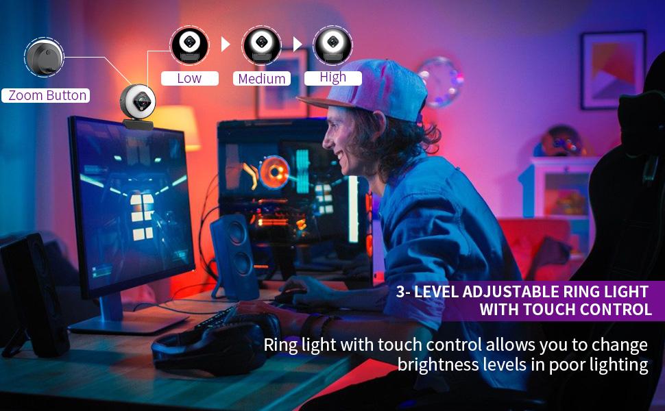 streaming plug pc logitech video and lighting sticker face nexigo desktop autofocus hd play