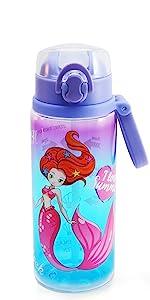 Auto flip lid water bottle