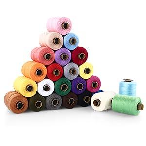 SOLEDI Kit de Costura de Bobinas de 24 Hilos de Colores para Coser, 16 Agujas para Coser y 2 Enhebradores Adecuados para Coser ropa a Mano y a máquina - Acolchado - Bordado - Costura: Amazon.es: Hogar